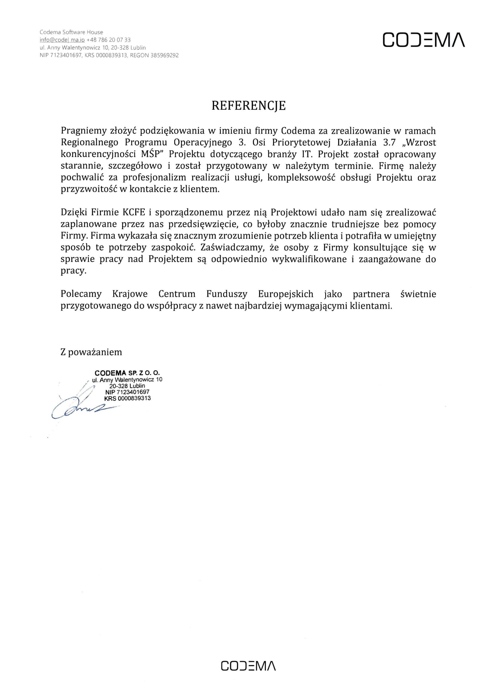 Referencje CODEMA - JPG
