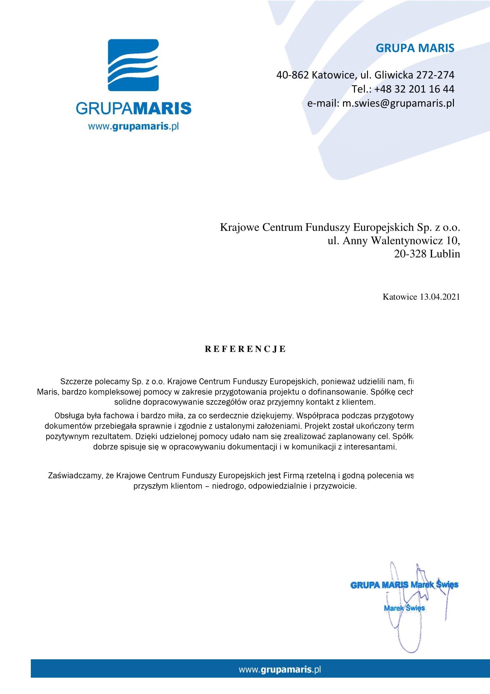 Referencje GrupaMaris 13.04.2021 JPG