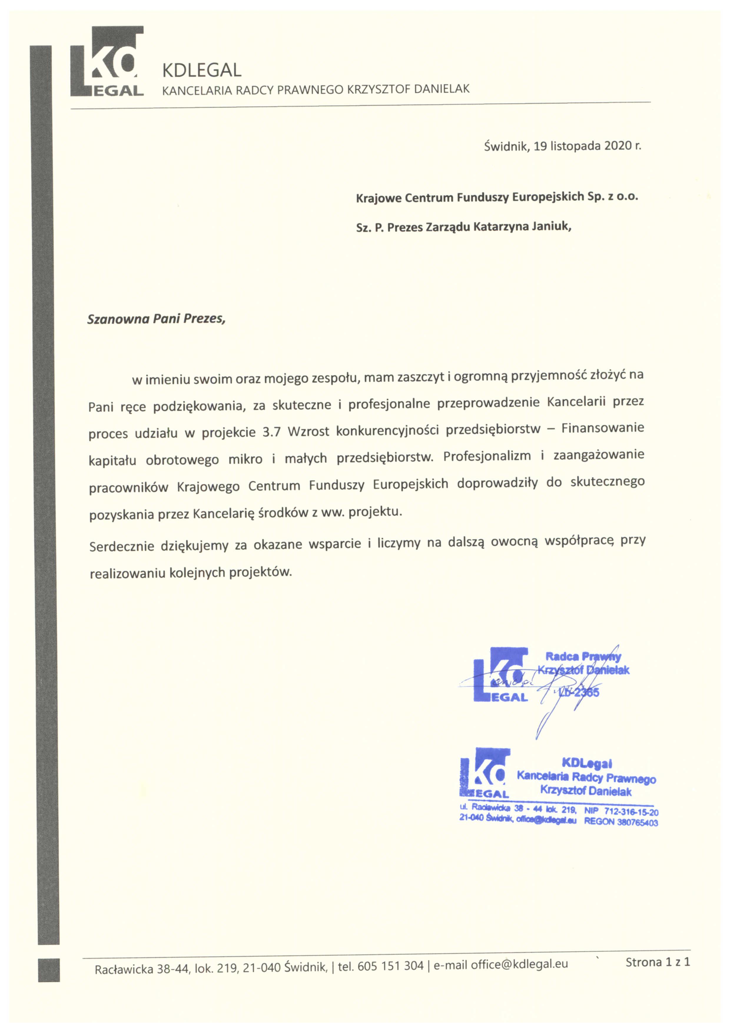 Referencje KDLEGAL 19.11.2020 JPG