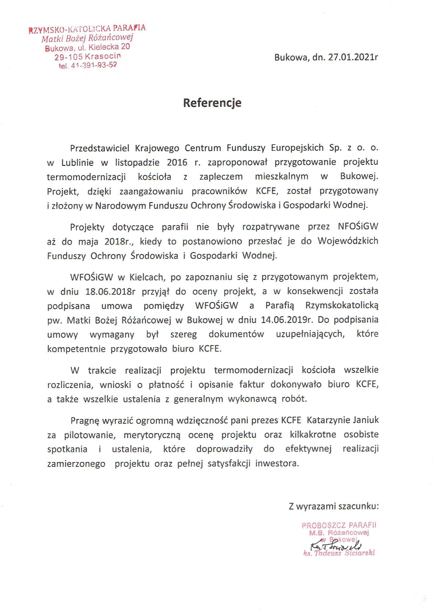Referencje Parafia w Bukowej 27.01.2021 - JPG