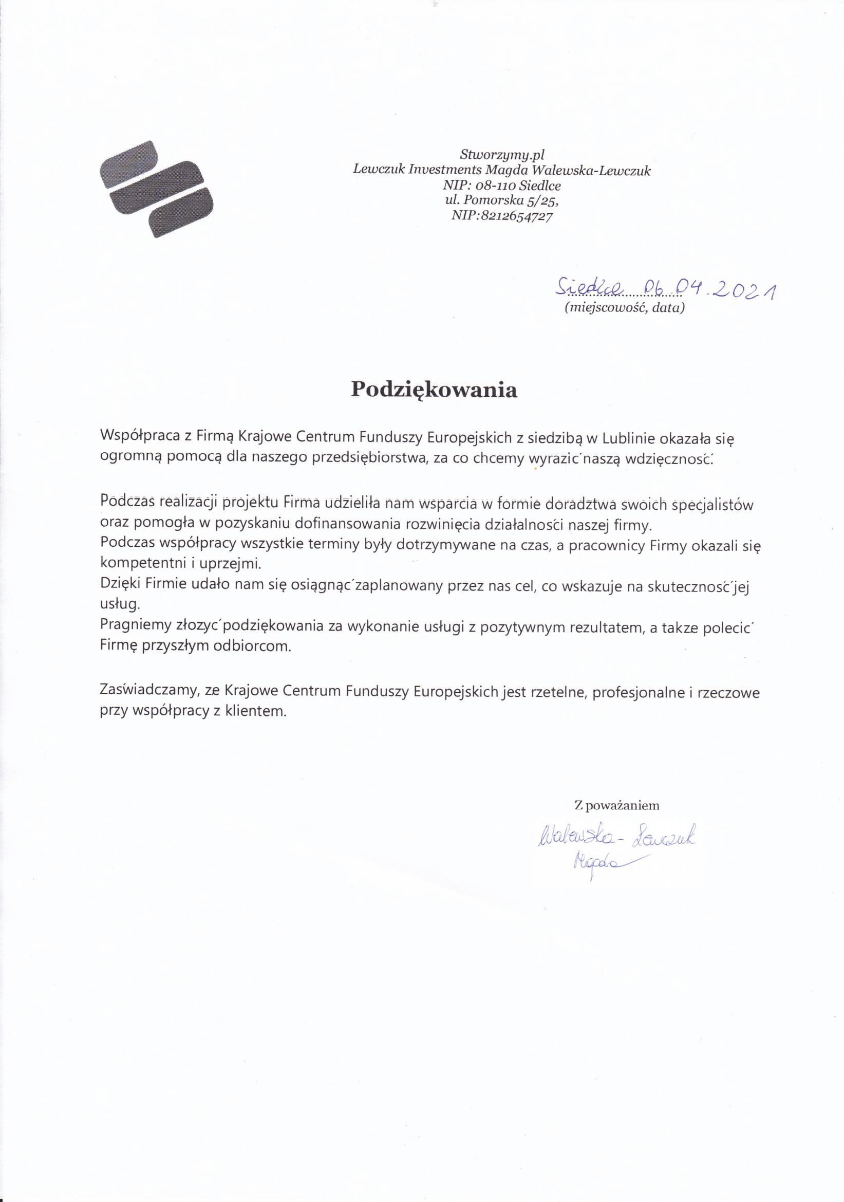 Referencje Stworzymy.pl 06.04.2021 JPG